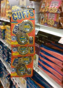 Handcuffs in the cookie aisle