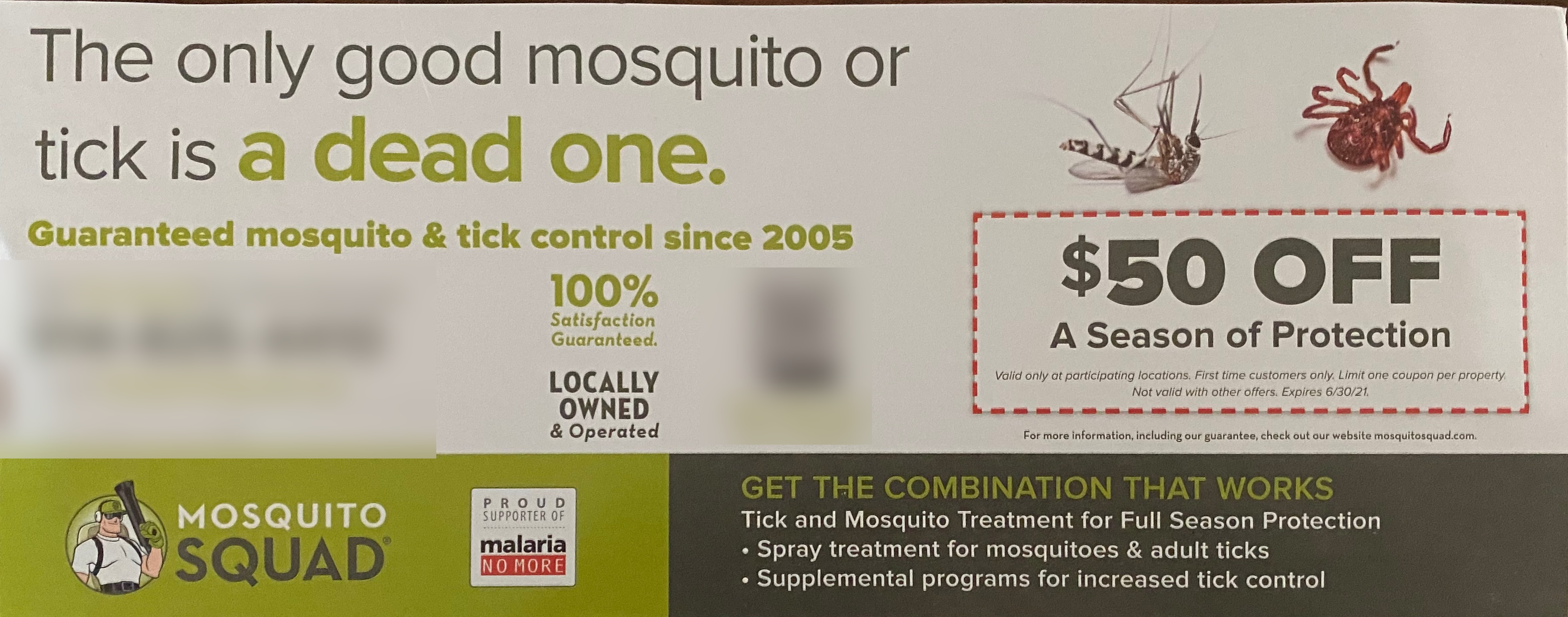 The only bad mosquito is a live mosquito
