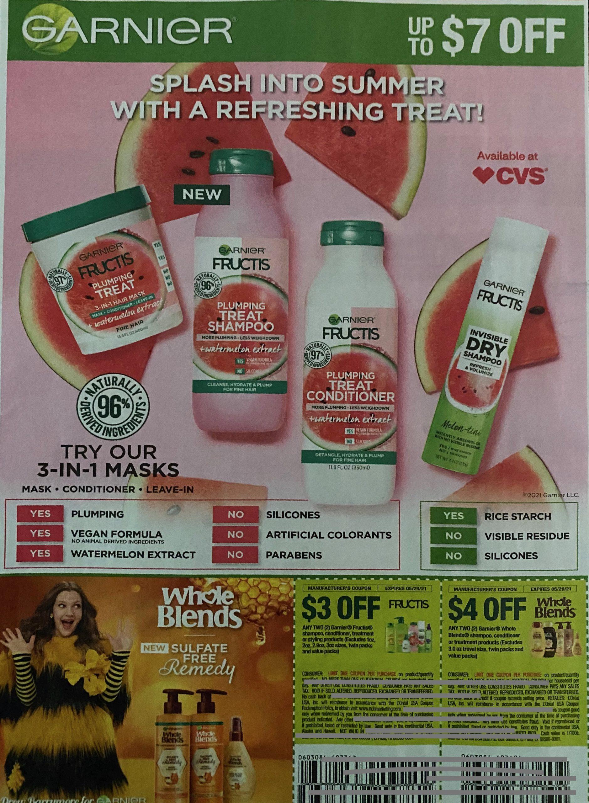 Fructis Garnier Drink Yogurt Shampoo